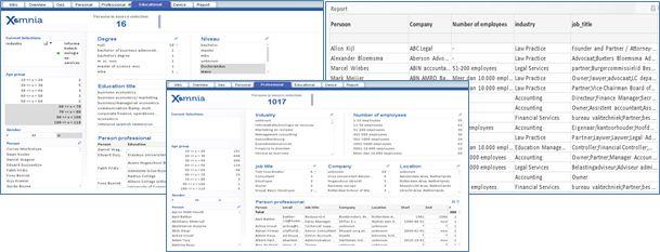 example dashboard Xomnia Recruiter