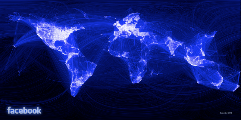 Facebook's network visualised